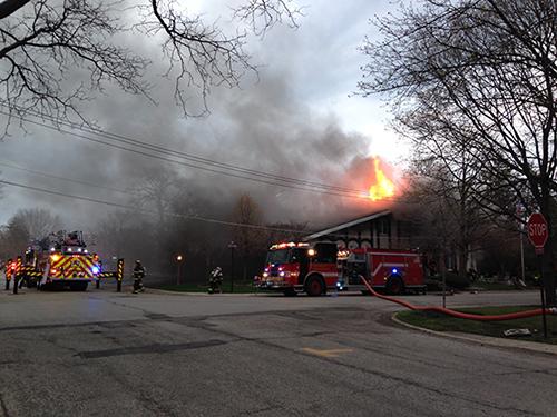 house fire photo