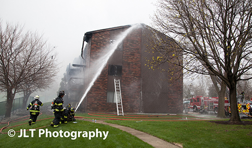 firemen fighting a fire