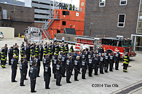 firefighter recruits at training