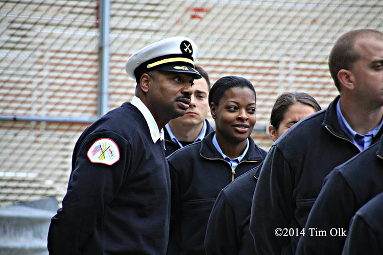 fire chief officer with recruit