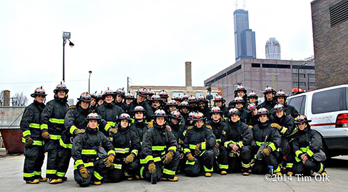 fire department recruit class photo
