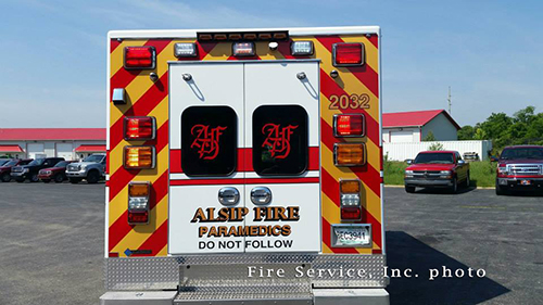 back of new ambulance