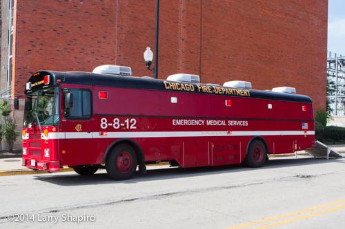 Chicago medical ambulance bus