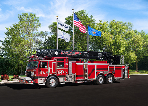 New fire truck for the Oak Brook Fire Department.