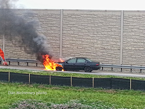 car fire photo