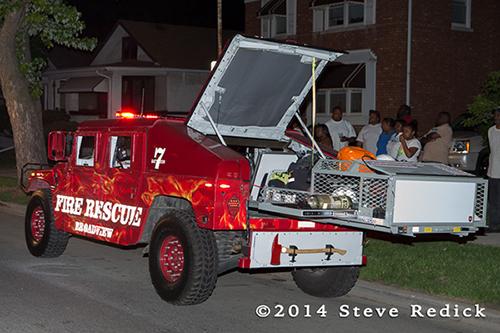 fire department Humvee