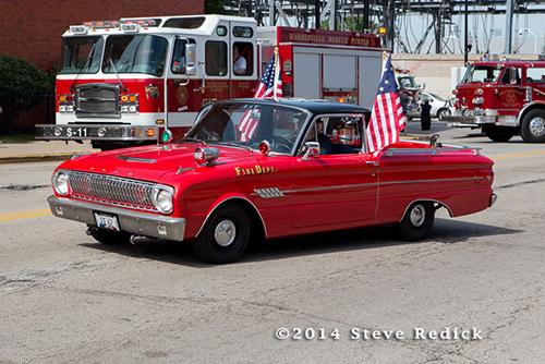 antique fire chief car