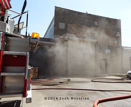 smoke from Chicago commercial building