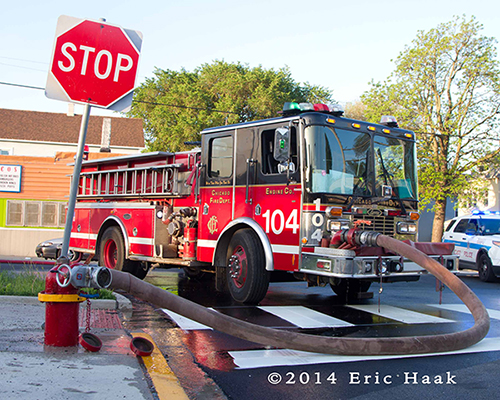 HME fire engine in Chicago