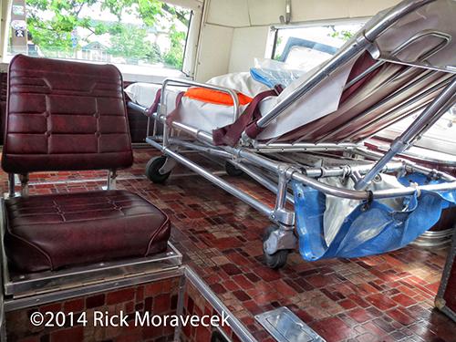 interior of Cadillac ambulance
