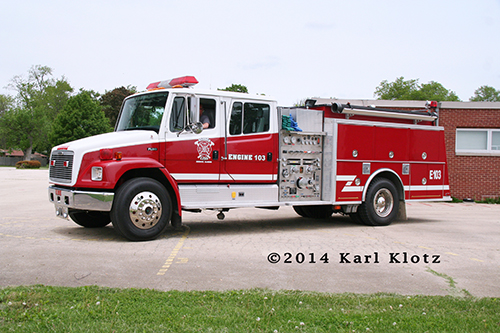 Freightliner fire engine