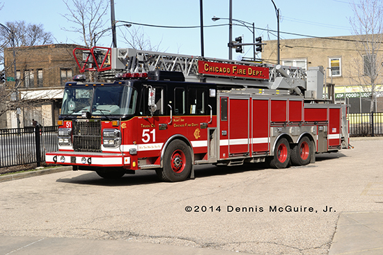 Chicago FD Crimson ladder truck