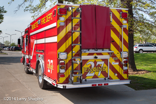 chevron striping on fire engine