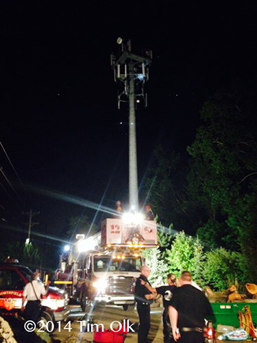 high-angle rescue from cell tower