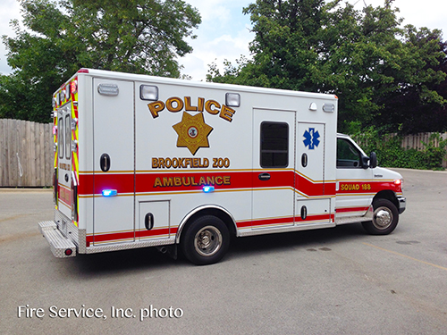 Brookfield Zoo Police Department ambulance