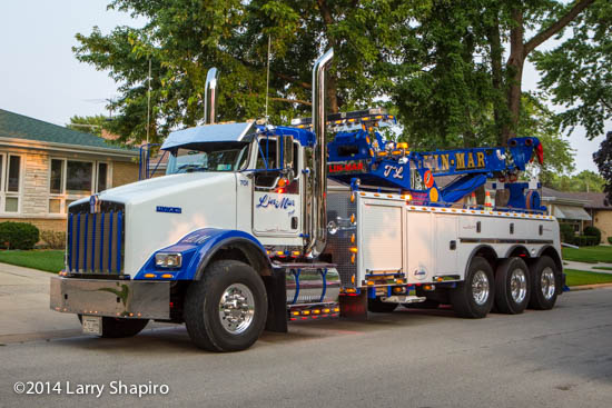 Lin Mar Towing century rotator heavy wrecker on a Kenworth chassis