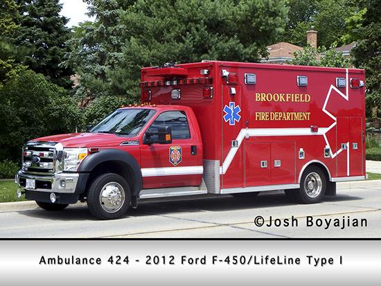 Brookfield Fire Department ambulance