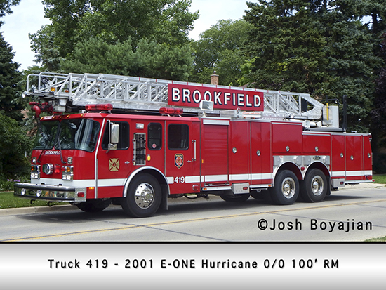 Brookfield Fire Department ladder truck