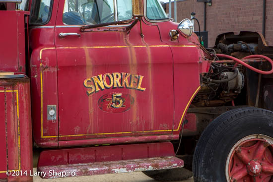 final days of historic Snorkel fire truck