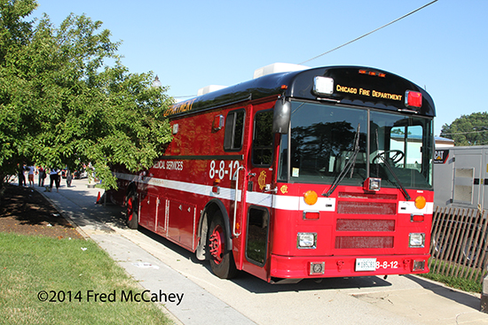 Chicago FD medical ambulance bus