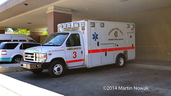 new ambulance for the Chicago Fire Department