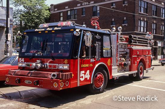 Chicago E-ONE Hurricane fire engine