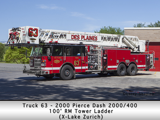 Des Plaines Fire Department Truck 63