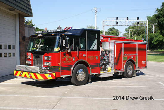 Pierce Saber fire engine for Hinsdale IL