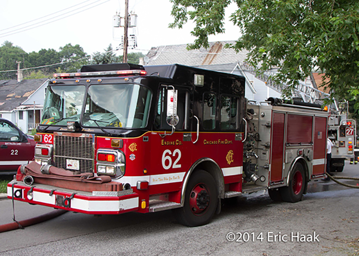 Chicago Spartan fire engine