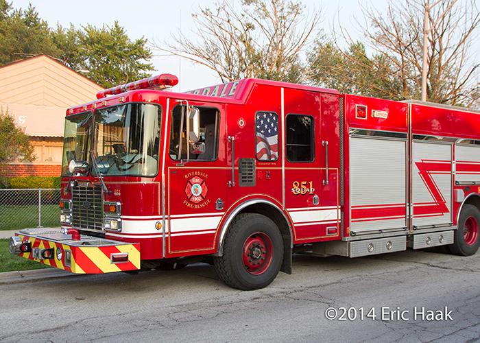 HME fire truck rescue squad