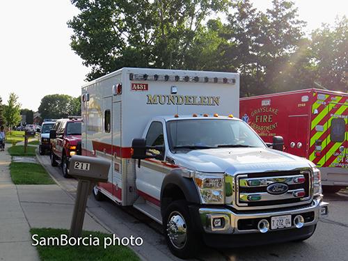 Mundelein Fire Department ambulance
