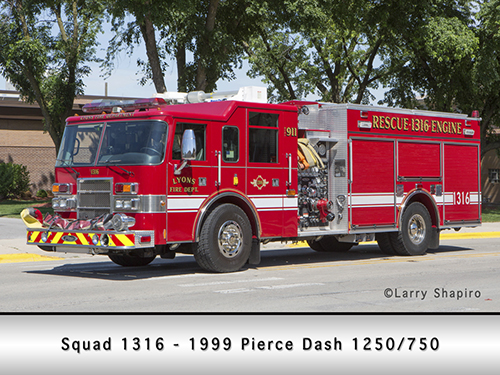Lyons Fire Department Pierce pumper squad