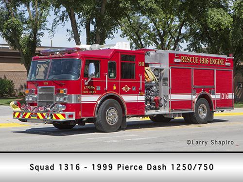Lyons Fire Department Pierce pumper squad