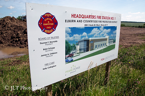 artist rendering of new fire station