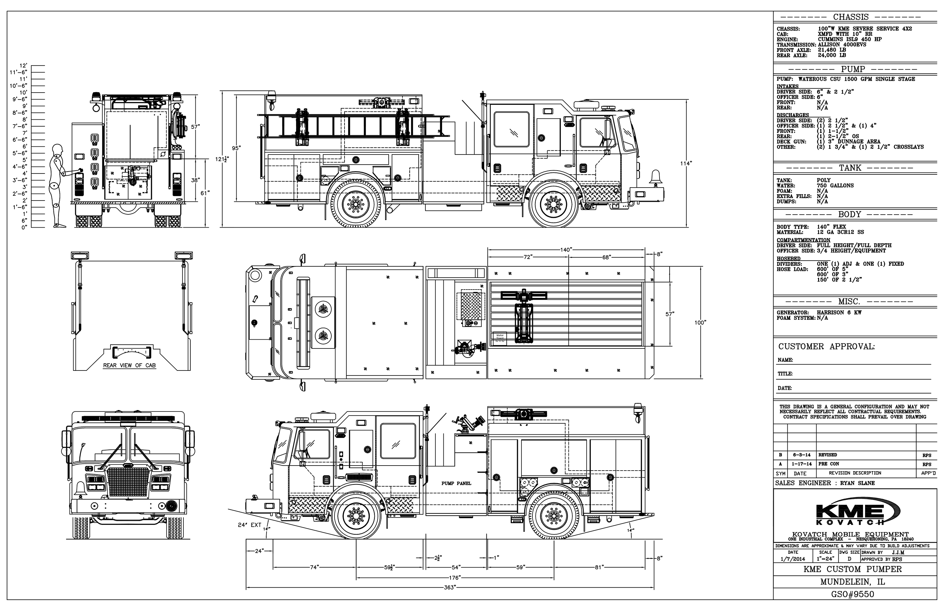 fire engine design drawing