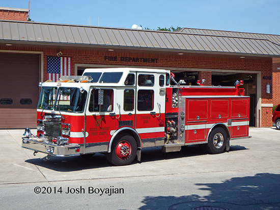 River Forest fire engine