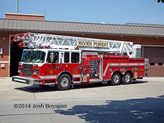 River Forest fire truck