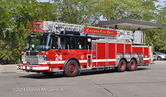 Spartan ERV aerial ladder in Chicago