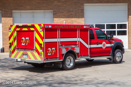 Wilmette Fire Department rescue squad