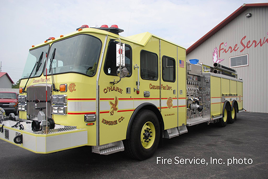 new fire engine for O'Hare airport