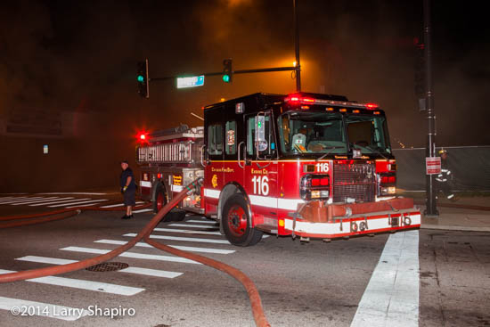 Chicago FD Engine 116 at a fire Spartan