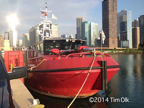 the Chicago fire boat The Christopher Wheatley Engine 2