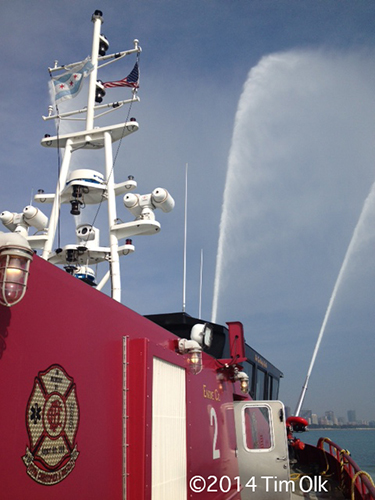 aboard the Chicago fire boat The Christopher Wheatley Engine 2