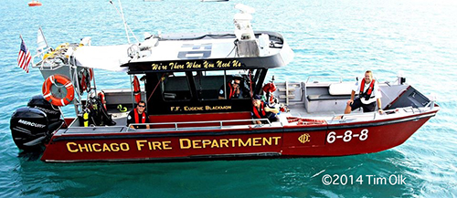Chicago FD fast boat 6-8-8