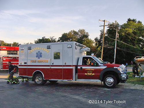 Crystal Lake FD ambulance
