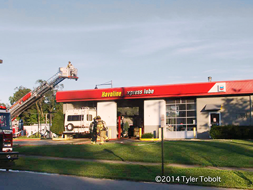 oil change shop after fire