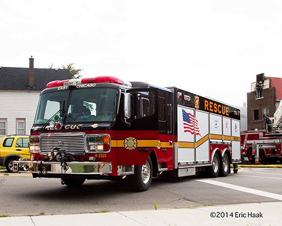 American LaFrance heavy rescue squad