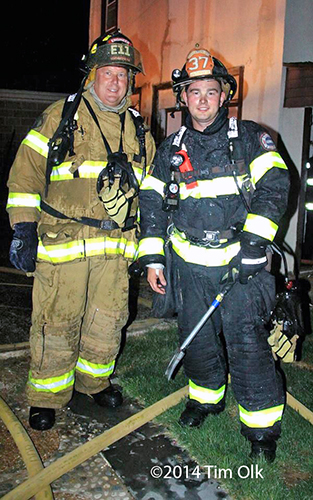 father and son firefighter together