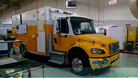 ambulance being built