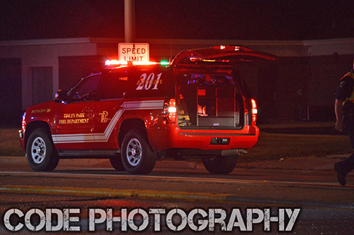 FD shift commander at night scene